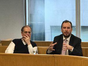Matteo Goretti de Nueva Comunicación y Esteban Bicarelli de BL Asuntos Públicos
